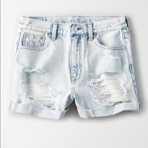 American Eagle denim mom shorts
